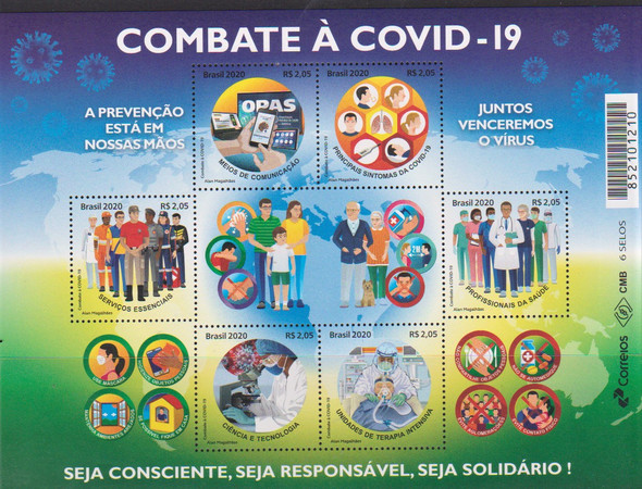 BRAZIL  (2020)- COVID 19 MEDICAL RESPONSE SHEET OF 6 VALUES
