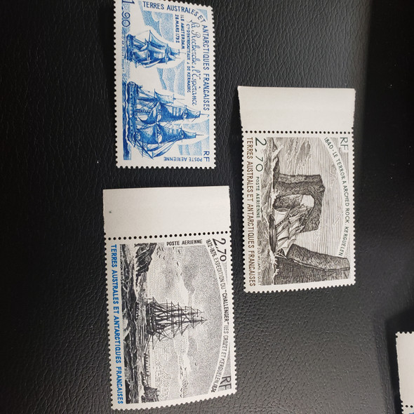 FRENCH ANTARCTIC C55, 56, 58 3 SHIP , Airmail (3 v)