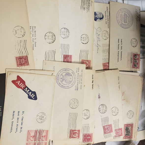 US United States Early FDC Lot 1926- 1939 100 Covers