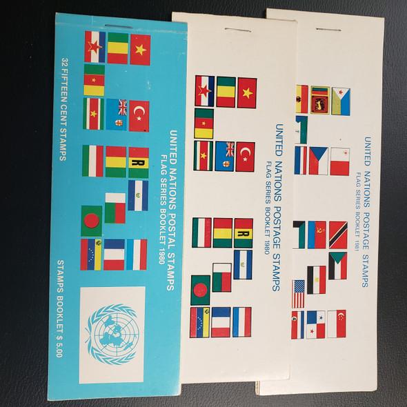 UNITED NATION Flag Booklets 1980 -1989 Lot Of 11