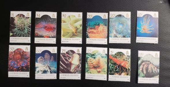 CAYMAN ISLANDS  (1986) Colorful Marine Life Set 562 - 73 SCV $34
