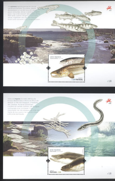 Endangered Migratory Fish- souvenir sheet