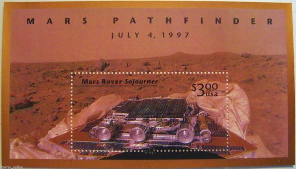 DISCOUNT POSTAGE LOT-- US (1997):  3X $3 Mars Pathfinder Souvenir Sheet