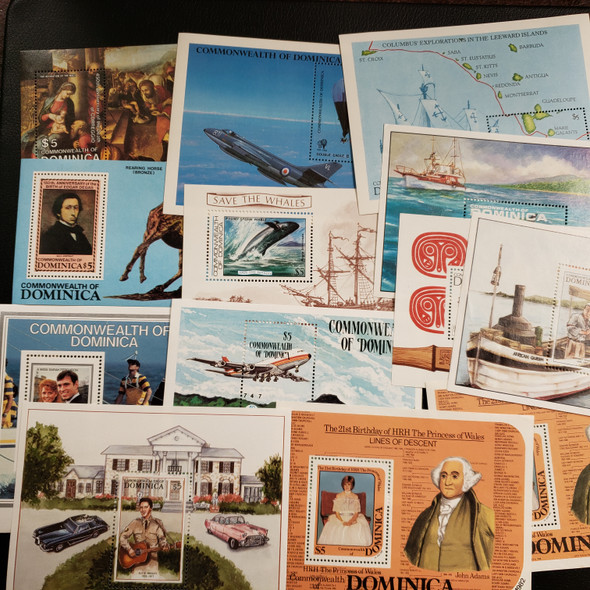 DOMINICA 50 OLDER Souvenir Sheets SS  Clearance