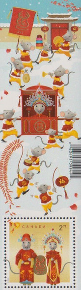 CANADA (2020)-- Year of the Rat (2v self-adhesives & souvenir sheet)
