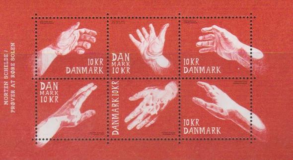 DENMARK (2019)-- HELPING HANDS SHEET OF 6v