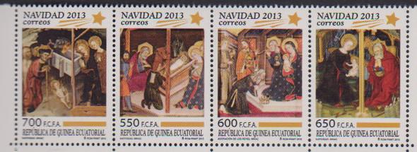 EQUATORIAL GUINEA- (2013) Christmas - Complete sheet- 4 sets
