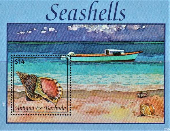ANTIGUA (2020)- Seashells Sheet of 6 values & s.s.