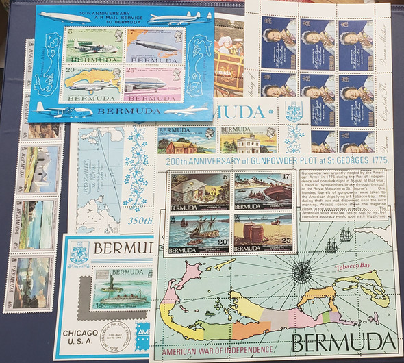 BERMUDA COLLECTION, MORE Than 55  SS Mint NH Sets SCV $450+