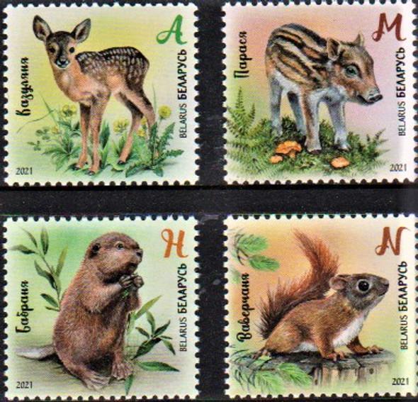 BELARUS (2021)-Baby Animals (4v)