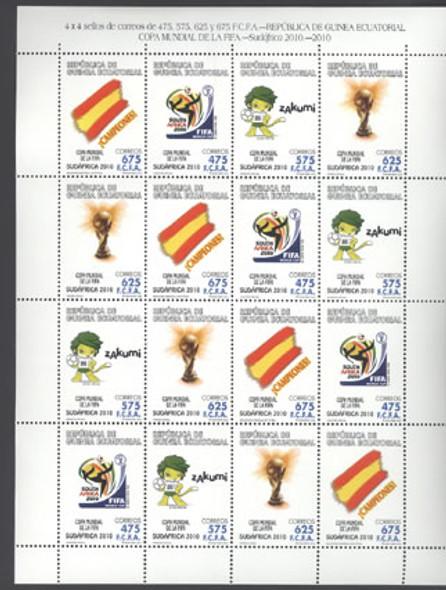 EQUATORIAL GUINEA- FIFA World Cup Soccer- mini-sheet of 4 sets