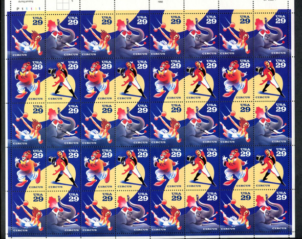 US (1993) - CIRCUS PERFORMERS SHEET OF 40 -#2753A