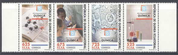 EQUATORIAL GUINEA- Intl Year of Chemistry 2011- mini-sheet of 4 sets