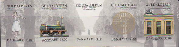 DENMARK (2021)- Golden Age  (5 values)-- ballet,train, etc.