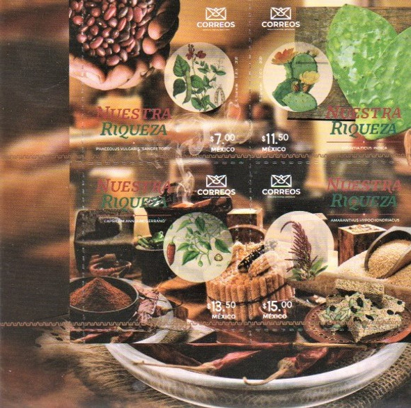 MEXICO  (2021)-Food and Plants (4 values)