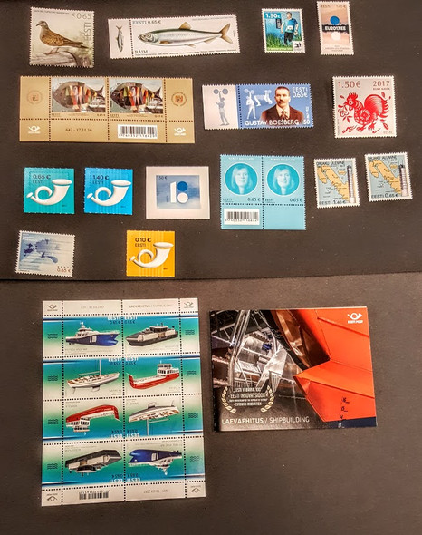 ESTONIA (2015-7)- 15 ISSUES - NATURE, SHIPS, MORE!- ORIGINAL RETAIL>$81!