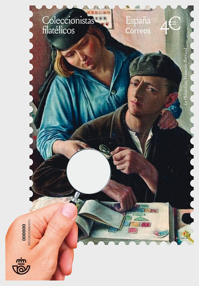 SPAIN (2020)- Stamp Collecting Sheet w/Magnifying Glass! Unique