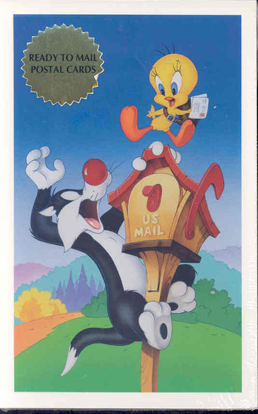 US (1998)  LOONEY TUNES -32c Sylvester and Tweety  w/Postcards- BELOW FACE VALUE!