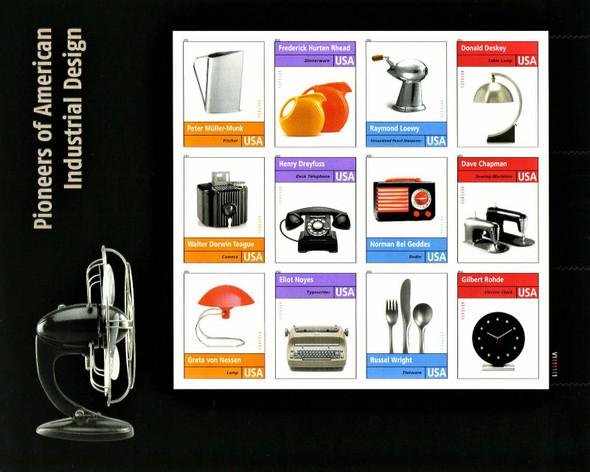 US (2010)- PIONEERS OF AMERICAN INDUSTRIAL DESIGN -SHEET OF 12V-#4546