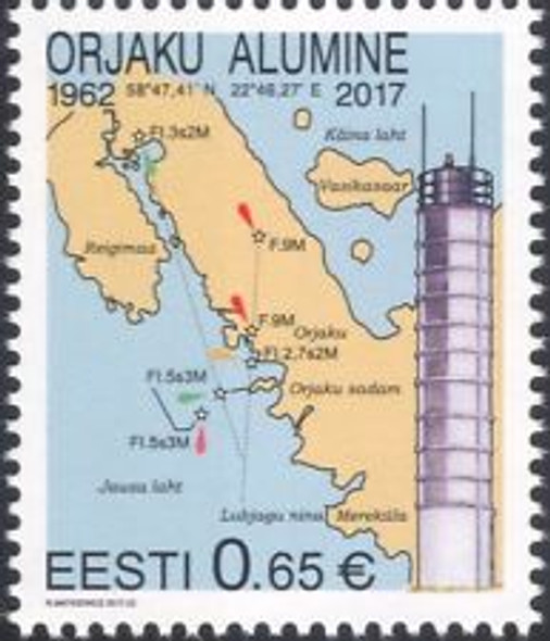 ESTONIA (2017) Lighthouse, Map (1v)