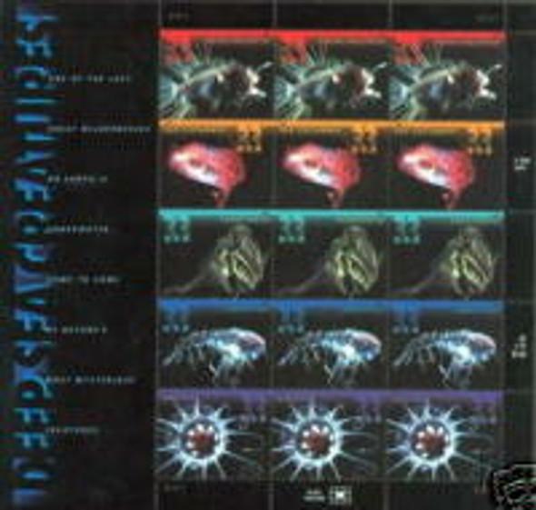 US (2000) Deep Sea Creatures Sheet of 15