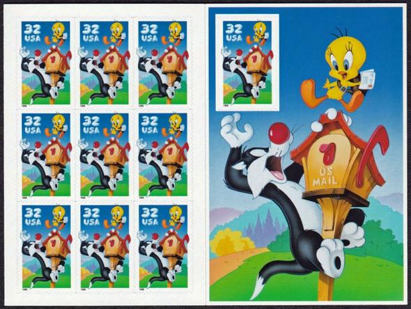 US (1998) - -Sylvester & Tweety USPS Folder & Mint Sheet #3294