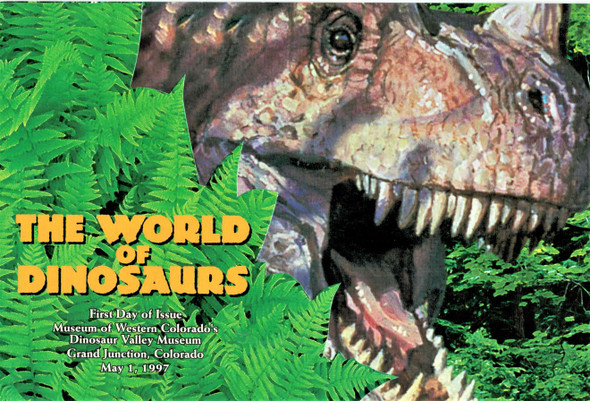 U.S. World of Dinosaurs (1997) --Mint Sheet w/First Day Ceremony Program