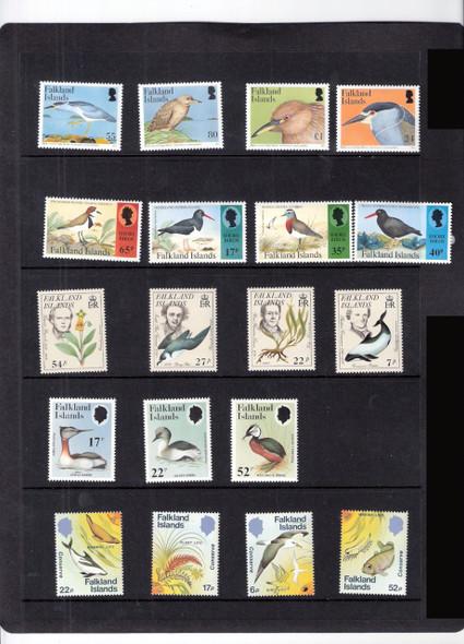 FALKLAND IS. BIRDS/PENGUINS  (1960-2006)- 9  SETS- CAT VALUE>$77!