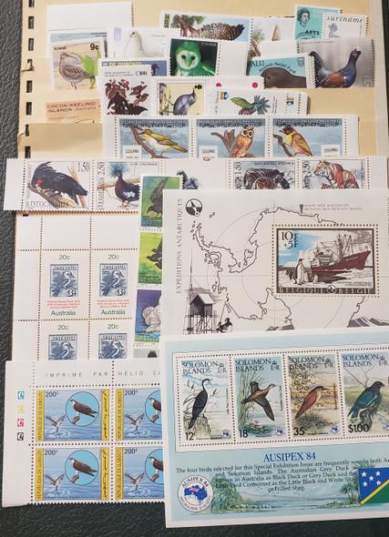 SUPER DEAL! WORLDWIDE Bird Collection, 31 Sets, SS Sheets Scv$150