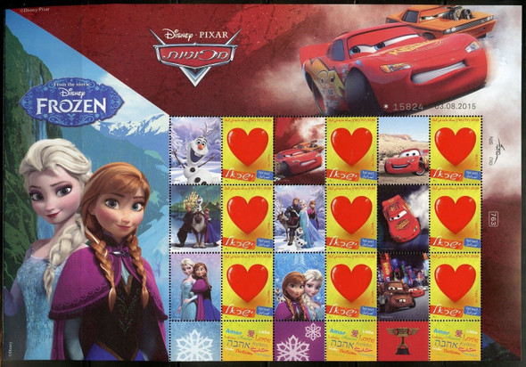 """ISRAEL PERSONALIZED SHEETS- DISNEY PIXAR- """"FROZEN"""" & """"TOY STORY"""""""