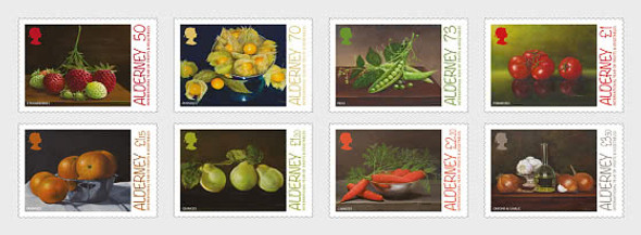 ALDERNEY (2021)- Fruits & Vegetables (8v)