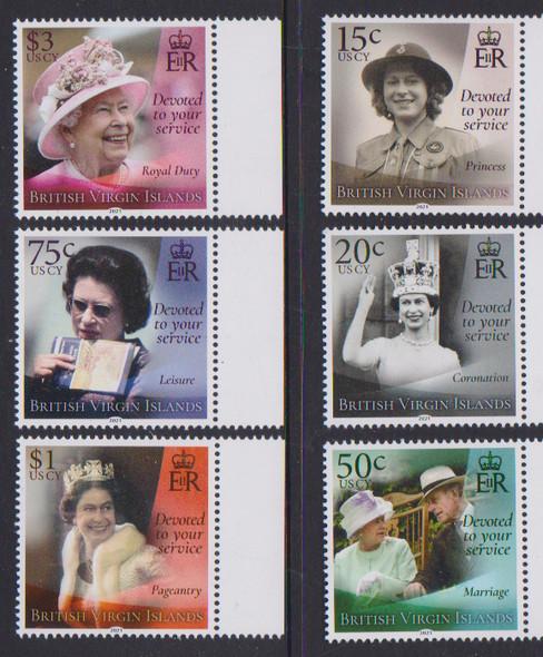 BRITISH VIRGIN ISLANDS- HMQ ELIZABETH 95TH BIRDAY- 6V & SHEET