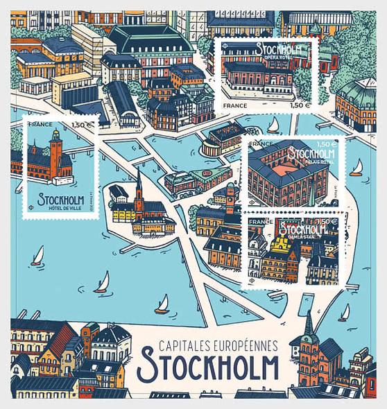 FRANCE  (2021)- European Capitals Sheet- Stockholm