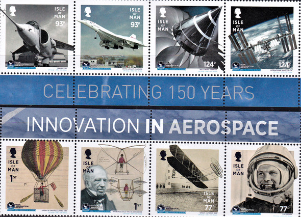 ISLE OF MAN (2016)- Royal Aeronautical Society (Space)- 8v