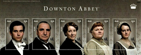 PALAU (2016)- Downton Abbey Sheets (2)- Actor Portraits