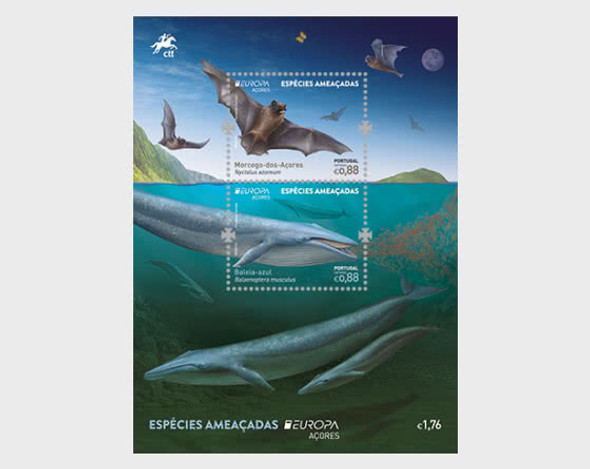 AZORES (2021)-Europa- Endanged National Species- Whale & Bat Sheet