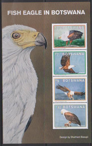 BOTSWANA  (2021)-Fish Eagle Birds (4v & Sheet)