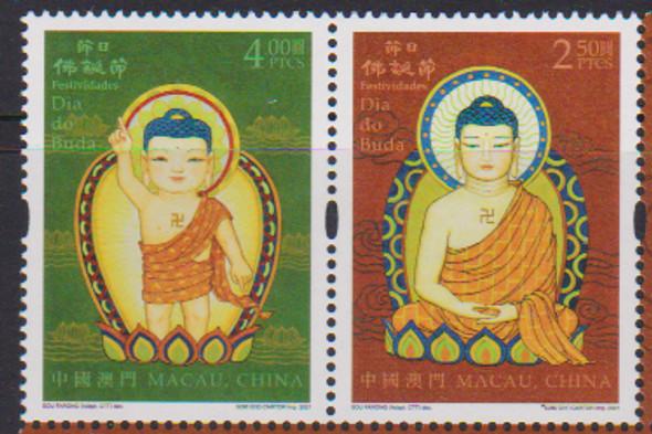 MACAU (2021)- Buddah (2v & s.s.)