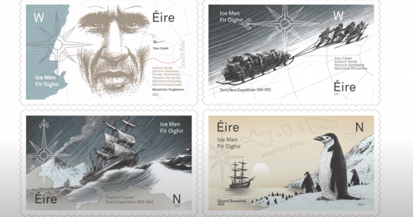 IRELAND (2021)- ANTARCTIC EXPLORERS (4v)- Penguin, Ship, etc.