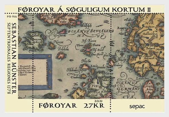 FAROE ISLAND  (2021)- SEPAC- Old Maps Souvenir Sheet