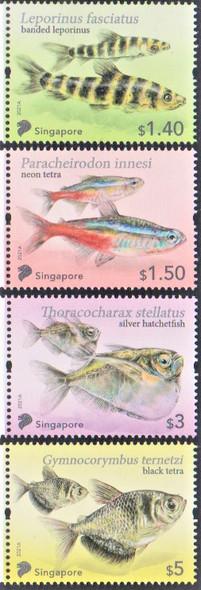 SINGAPORE  (2021)- Fish Definitives (4v)
