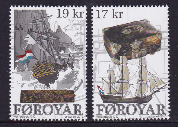 FAROE ISLANDS: (2016)Wreck of Westerbeek- sail ship (2)