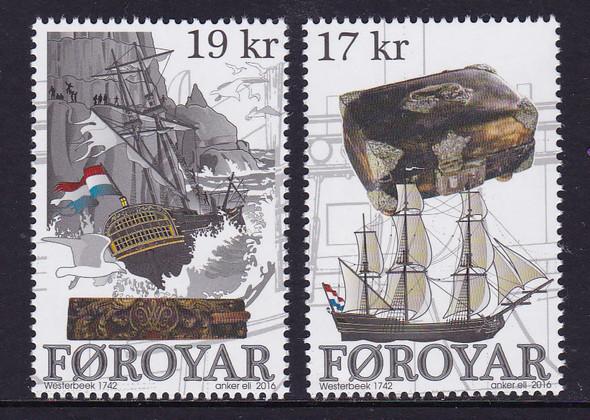 FAROE ISLANDS: (2016)Wreck of Westerbeek- sail ship (2)