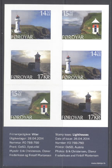 FAROE ISLANDS: Lighthouse Booklet 2014