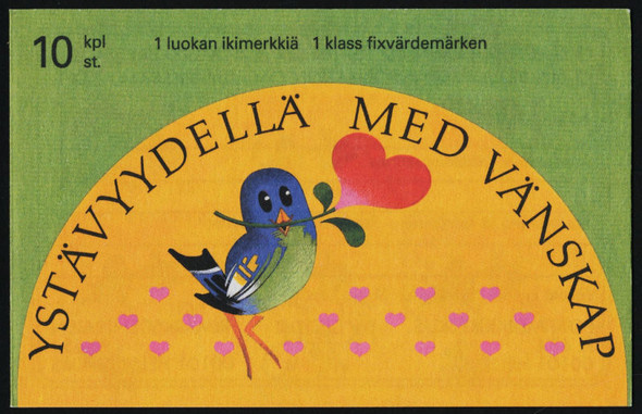 FINLAND (1993)- FRIENDSHIP BOOKLET- CARTOON BIRDS,HEARTS, ETC.-