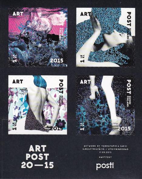 FINLAND (2015) : Art Assn 150 yrs- Sheet of 4- graphic art- self-adhesive