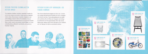 FINLAND (2015) : Design Booklet- self-adhesive- chair- motorcycle- plate etc