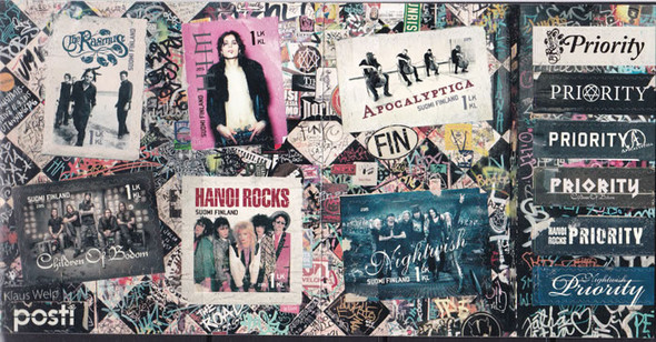FINLAND (2015) : Rock Bands Booklet- self-adhesive