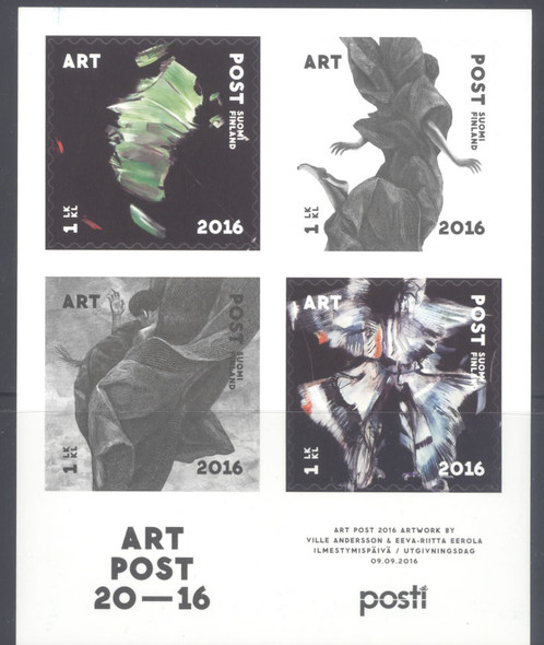 FINLAND- Art Post 2016- Sheet of 4- self-adhesive