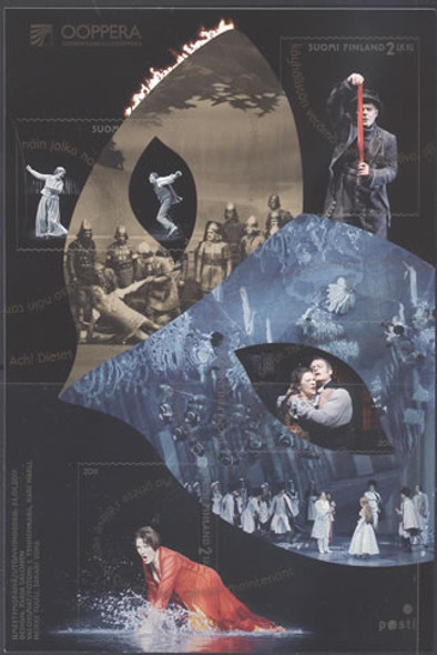 FINLAND- Finnish National Opera- Sheet of 4- self adh